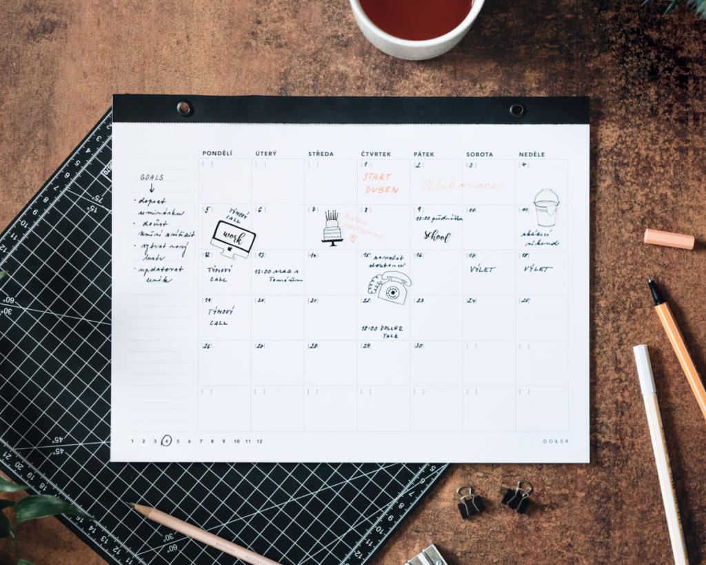 Kalendář jako prostředník