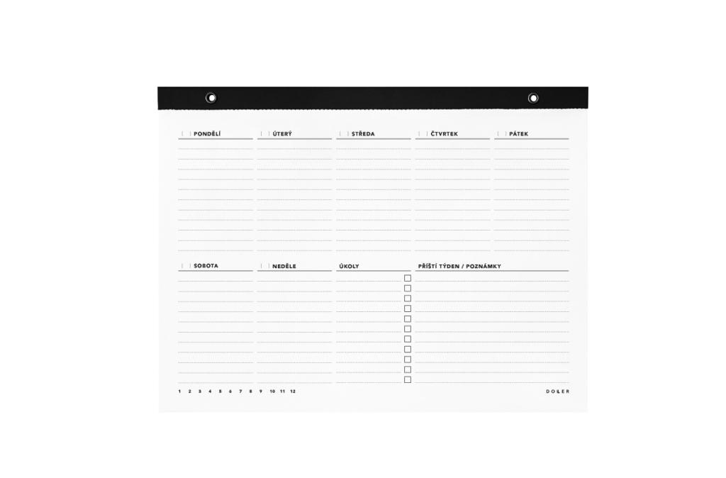 Týdenní kalendář A4